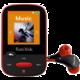 SanDisk Sansa Clip Sports 4GB, červená
