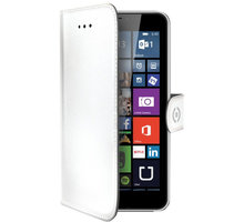 CELLY Wally pouzdro pro Microsoft Lumia 640 XL, PU kůže, bílá - WALLY478WH