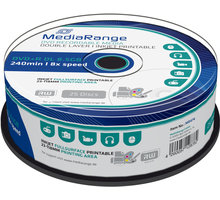 MediaRange DVD+R 8,5GB DL 8x, Printable, 25ks Spindle - MR474