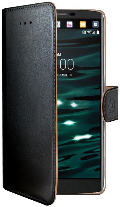 CELLY Wally Pouzdro typu kniha pro LG V10, PU kůže, černé