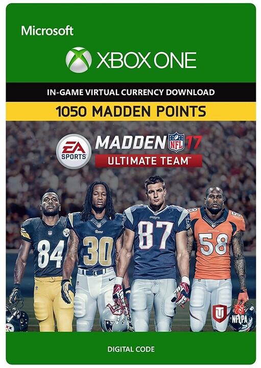 Madden NFL 17 - 1050 MUT Points (Xbox ONE) - elektronicky