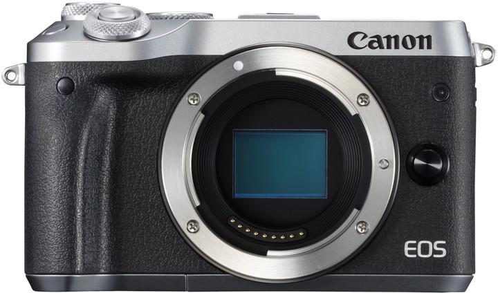 Canon EOS M6, tělo, stříbrná