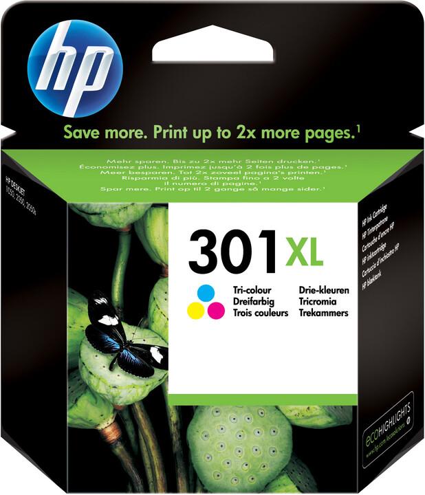 HP CH564EE č.301XL, barevná – ušetřete až 50 % oproti standardní náplni