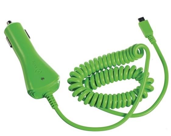 CELLY autonabíječka microUSB, 1A, zelená