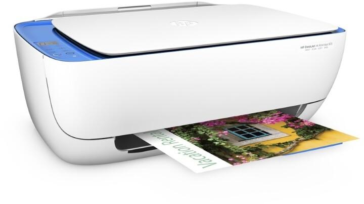 HP Deskjet Ink Advantage 3635, bílo-modrá