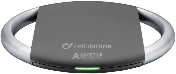 CellularLine WIRELESSPAD ADAPTIVE, Qi standard, černo-stříbrná