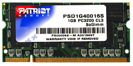 Patriot Signature 1GB DDR 400 SO-DIMM