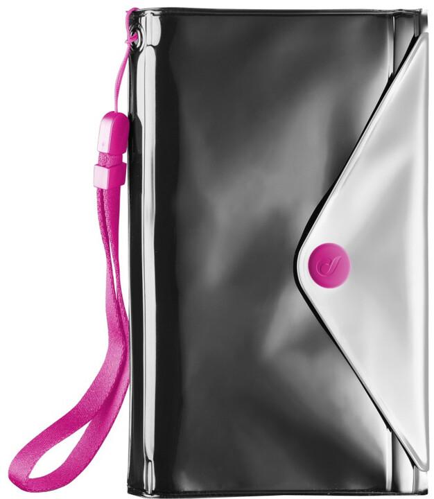 """Cellularline VOYAGER POCHETTE voděodolné pouzdro s peněženkou do velikosti 5,2"""", černé"""