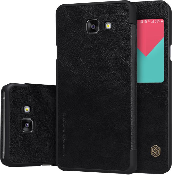 Nillkin Qin S-View Pouzdro Black pro Samsung A510 Galaxy A5 2016
