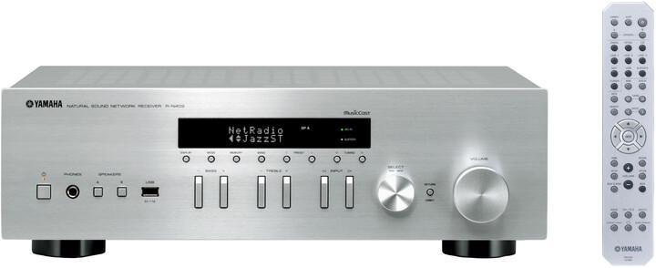 Yamaha R-N402, stříbrná