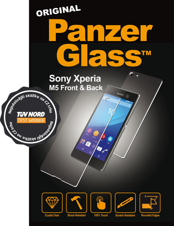 1605 Panzerglass size 1 Sony Xperia M5 front back - Front.jpg