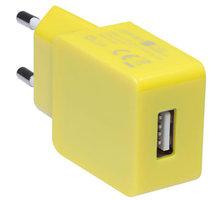 CONNECT IT nabíjecí adaptér 1xUSB port 1 A, žlutá - CI-599