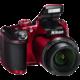 Nikon Coolpix B500, červená  + Batoh Alpine Pro Nexca v ceně 750 Kč