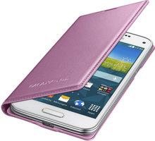 Samsung flipové pouzdro EF-FG800B pro Galaxy S5 mini, růžová - EF-FG800BPEGWW