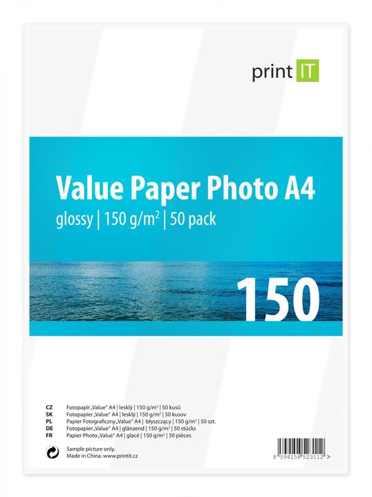 PRINT IT Value Paper Photo A4 150 g/m2 Glossy 50ks