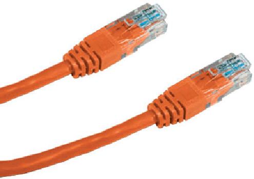DATACOM Patch Cable UTP, Cat5e 0,25M, oranžový