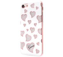 Guess Hearts TPU Pouzdro White pro iPhone 7 - GUHCP7GLHWH