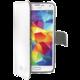 CELLY Wally pro Samsung Galaxy S5 mini, PU kůže, bílá
