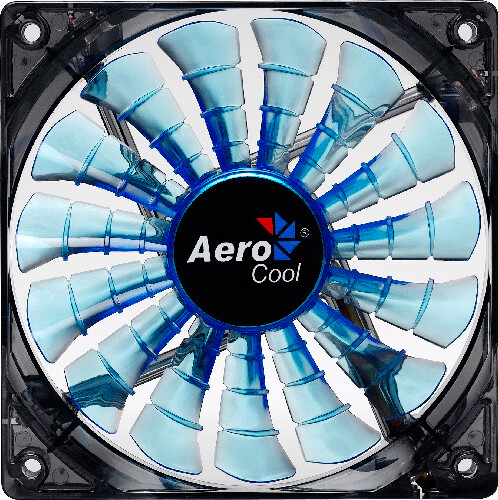 AeroCool Shark Fan, 140 mm, modrá
