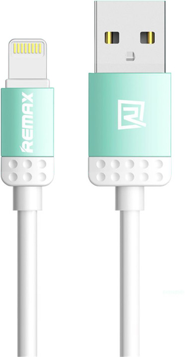 Remax Lovely datový kabel s lightning pro iPhone 5/6, 1m, modrá