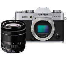 Fujifilm X-T20 + XF 18-55mm, stříbrná - 16542684
