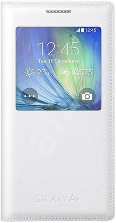 Samsung Galaxy A5 2017 (SM-A520P), flipové pouzdro, S-View, stříbrné