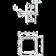Solarix vyvazovací háček D3 40x40mm