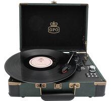 Gramofon GPO Retro Ambassador, zelená/černá - GPO13