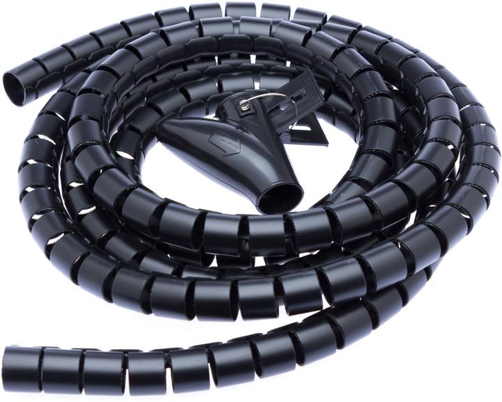 CONNECT IT trubice pro vedení kabelů WINDER, 2,5m x 20mm, černá