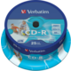 Verbatim CDR 52x 700MB Printable, Spindle, 25ks