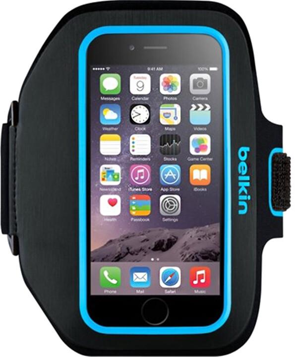 Belkin Sport fit Plus Armband pouzdro pro Galaxy S6, Topaz