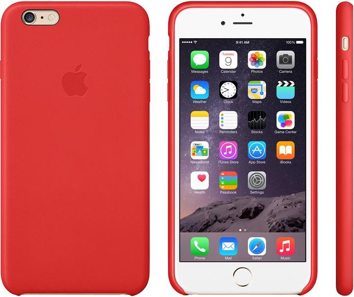 Apple Leather Case pouzdro pro iPhone 6 Plus, červená