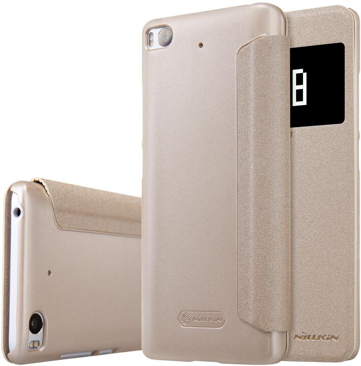 Nillkin Sparkle Leather Case pro Xiaomi Mi 5S, zlatá