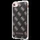 Guess 4G 2017 Soft Pouzdro Black/Silver Metal pro iPhone 7