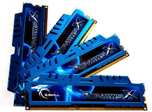 G.SKill RipjawsX 32GB (4x8GB) DDR3 1866 CL9