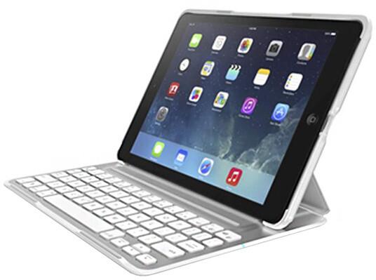 Belkin pouzdro Ultimate s klávesnicí pro iPad Air, bílá UK