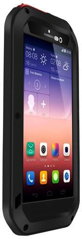 Love Mei Case Huawei P7 Three anti Black+Black+Red