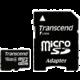 Transcend Micro SDHC 16GB Class 4 + adaptér