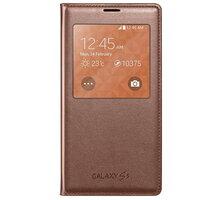 Samsung flipové pouzdro S-View EF-CG900B pro Galaxy S5, zlatá - EF-CG900BFEGWW