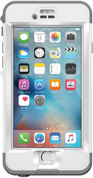 LifeProof Nüüd pouzdro pro iPhone 6s Plus, odolné, bílo-šedá