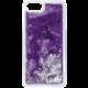 Guess Liquid Glitter Hard Triangle Purple pouzdro pro iPhone 7