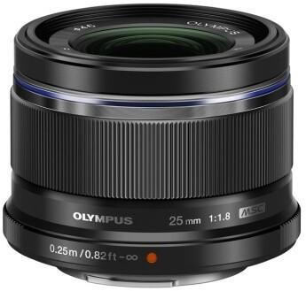 Olympus ZUIKO ES-M 25 mm F1.8, černá