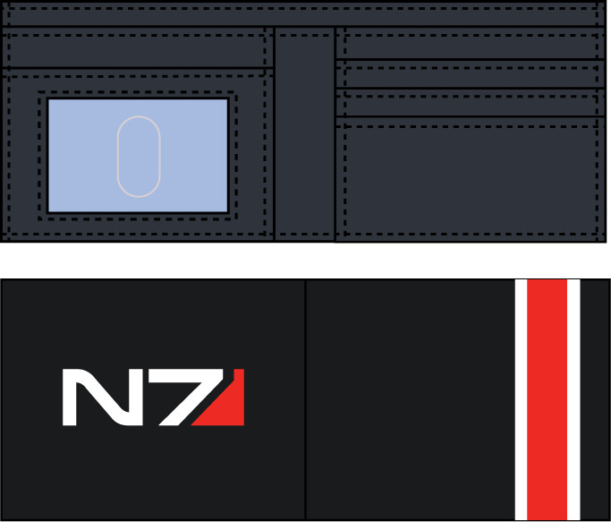 Mass Effect Andromeda N7 Logo - peněženka
