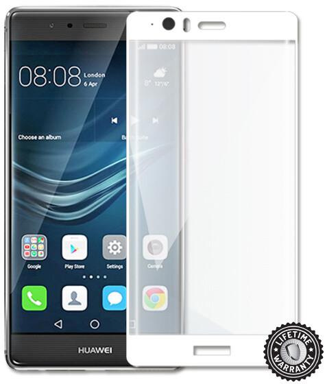 Screenshield temperované sklo na displej pro Huawei P9 Plus, kovový rámeček, bílá
