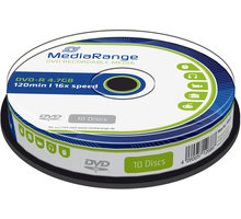 MediaRange DVD-R 4,7GB 16x, Spindle 10ks - MR452