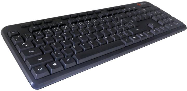 C-TECH KB-102M-BL, CZ, černá