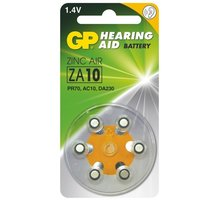 GP, ZA10, baterie do naslouchadel, 6ks - 1044001016