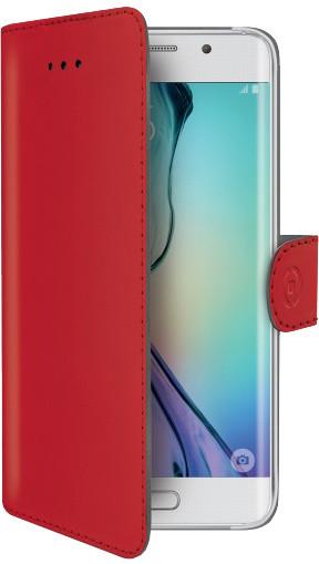 CELLY Wally pouzdro typu kniha pro Samsung Galaxy S6 Edge, PU kůže, červená