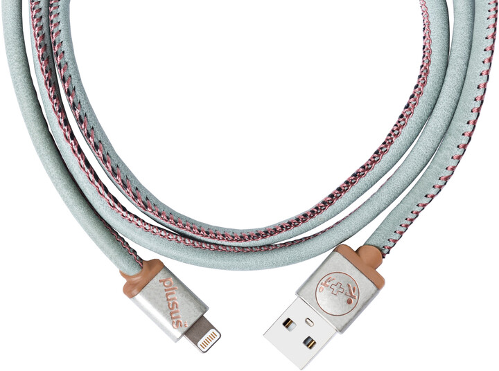 PlusUs LifeStar Premium Handcrafted USB Charge & Sync cable (1m) Lightning - Light Blue