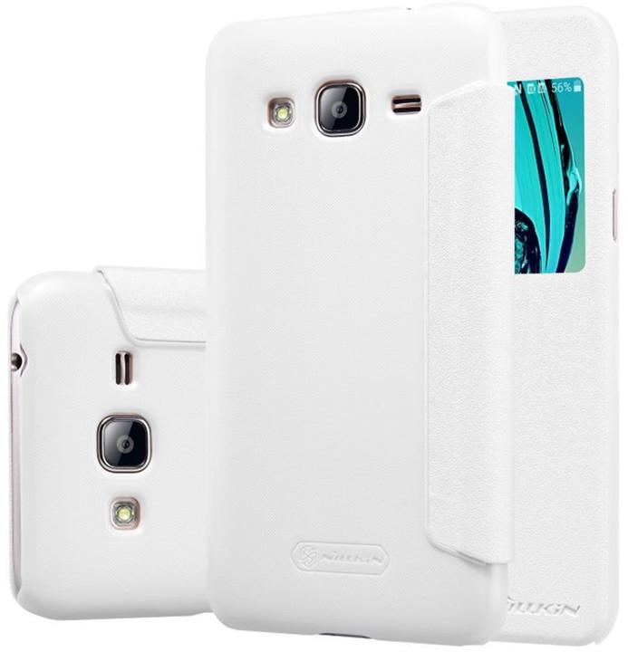 Nillkin Sparkle S-View pouzdro pro Samsung J320 Galaxy J3 2016, bílá
